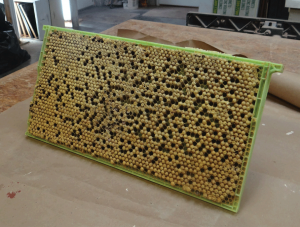 Capped plastic Drone comb frame